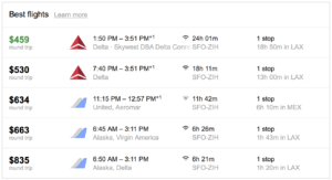 Chase Sapphire Reserve Points Google Flights