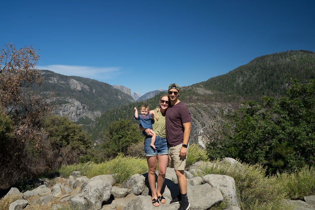 camping in yosemite with a baby